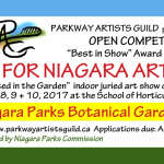 """Rooted in the Garden"" juried competition of original art featuring Niagara Parks -- Free Admission"
