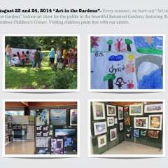 "August 23 & 24, 2014 ""Art in the Gardens"""