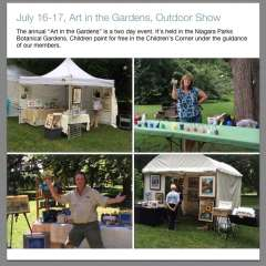 "July 16-17, 2016 ""Art in the Gardens"" Outdoor Show"