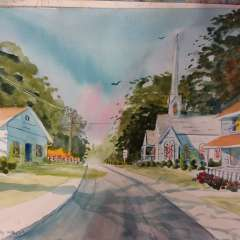 June 16 - Watercolor street scene with James Pay